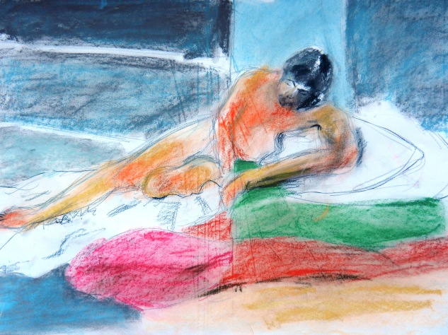 Barrie Jervis - Recumbent Nude