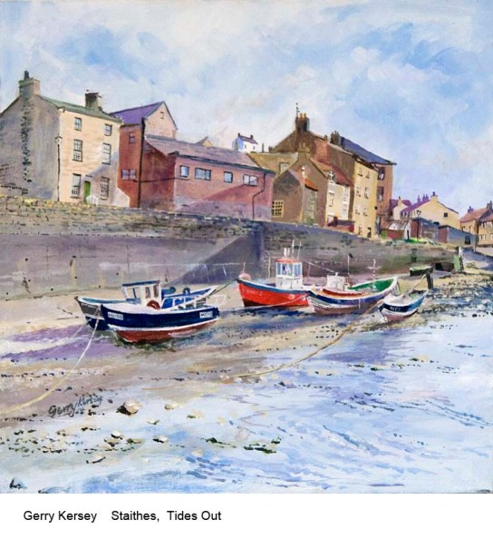 Gerry Kersey    Staithes,  Tides Out